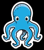 Blue Mascot Stickers
