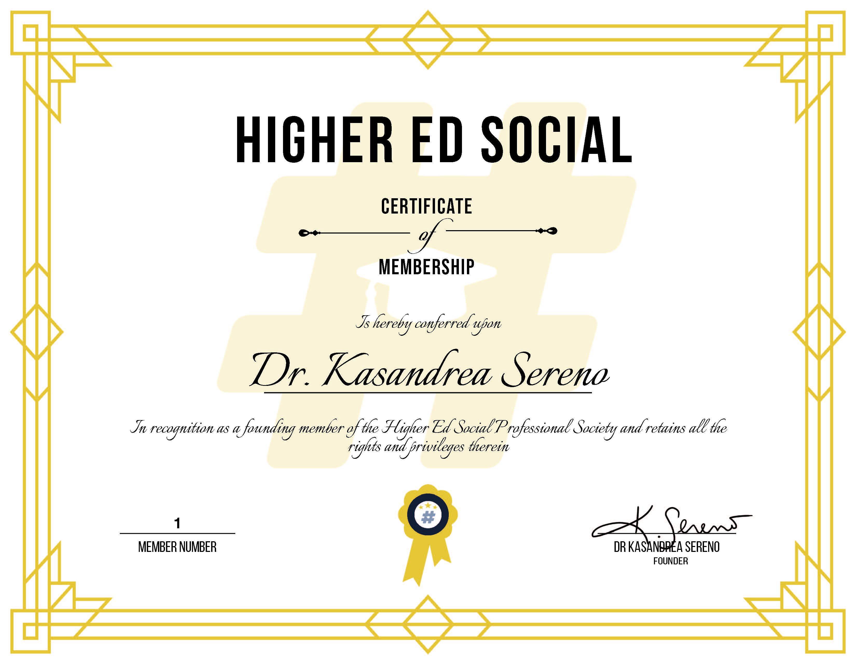 Replacement Membership Certificate