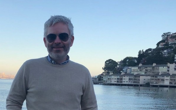 Nick Wall near his home in Sausalito, CA