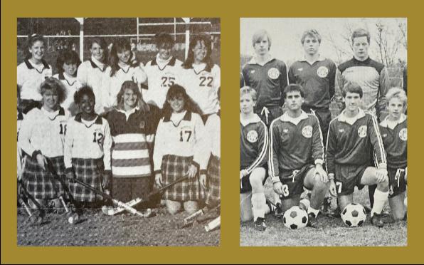 1988/1989 - Field Hockey & 1985/1986 - Boys Soccer